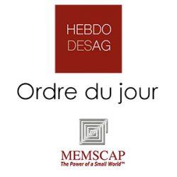 MEMSCAP SA, le 24 mai à 16h, dans les locaux de la Société à Bernin (38190)